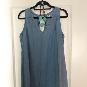 Chambray Sleeveless Dress 👗🌷